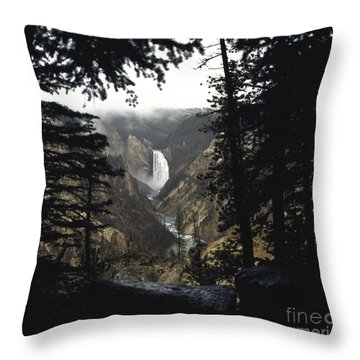 Grand Canyon Of The Yellowstone-signed Throw Pillow by J L Woody Wooden