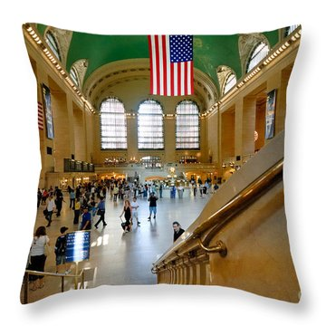 Grand Central Station New York City Throw Pillow by Amy Cicconi