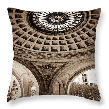 Grand Rotunda Pennsylvanian Pittsburgh Throw Pillow by Amy Cicconi