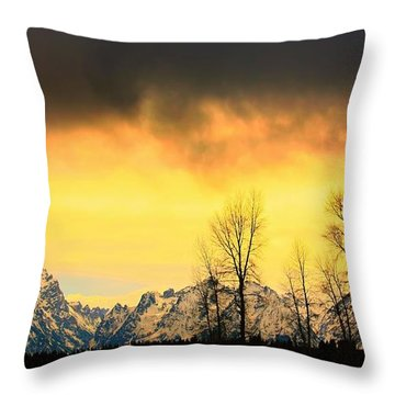 Throw Pillow featuring the photograph Grand Tetons Wyoming by Amanda Stadther