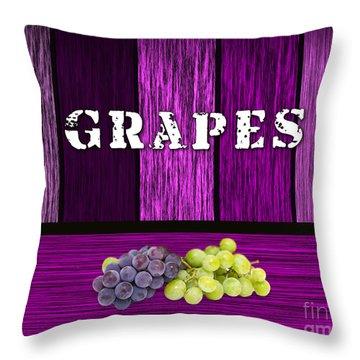 Grape Farm Throw Pillow by Marvin Blaine