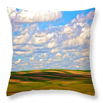 Great Plains Throw Pillow