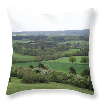 Throw Pillow featuring the photograph Green And Pleasant Land by Jayne Wilson