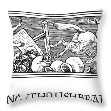 Grimm King Thrushbeard Throw Pillow