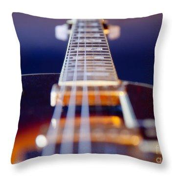 Guitar Throw Pillow by Stelios Kleanthous