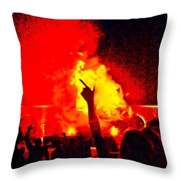 Throw Pillow featuring the photograph Guns-up Salute by Mae Wertz
