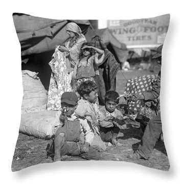 Throw Pillow featuring the photograph Gypsies, C1923 by Granger