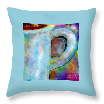Half A Cup Please Throw Pillow by Eloise Schneider