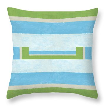 Half Full Throw Pillow by Michelle Calkins