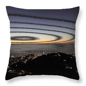 Throw Pillow featuring the photograph Halo by Nick David