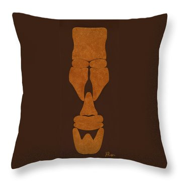 Hamite Male Throw Pillow by Jerry Ruffin
