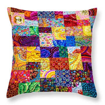 Hand Made Quilt Throw Pillow by Sherman Perry