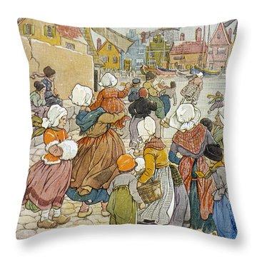 'hans Brinker', 1865 Throw Pillow