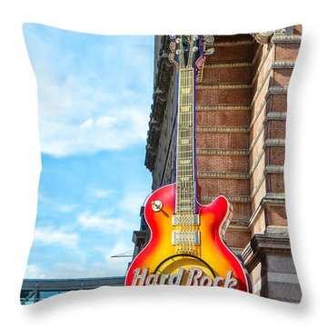 Hard Rock Cafe Guitar Throw Pillow