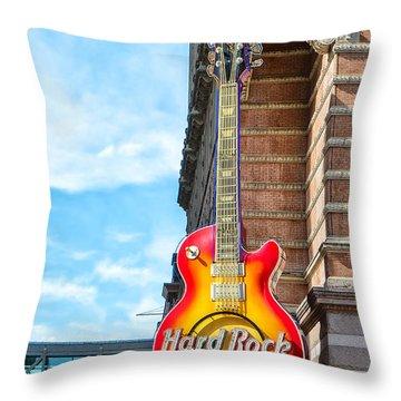 Hard Rock Cafe Guitar Throw Pillow