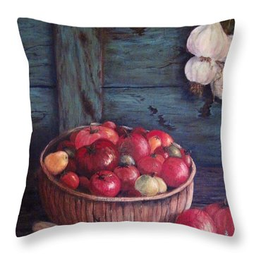 Throw Pillow featuring the painting Harvest Time by Megan Walsh