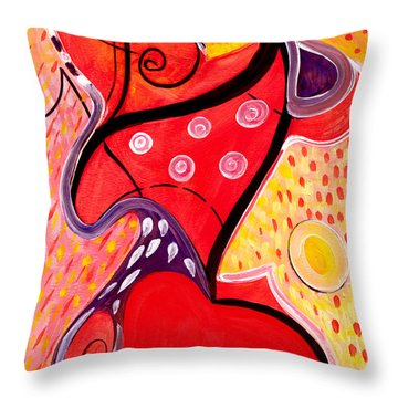 Heart And Soul Throw Pillow by Stephen Lucas