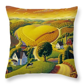 Heartland  Throw Pillow by Robin Moline