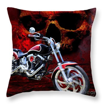 Heaven And Hell Throw Pillow by Linda Lees