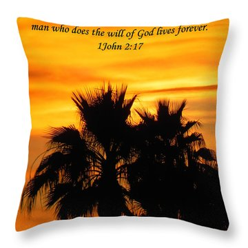 Heavenly Sunset Throw Pillow by Deb Halloran