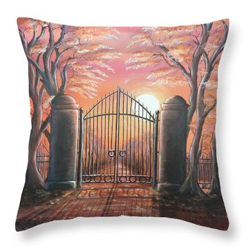 Heavens Gates Throw Pillow