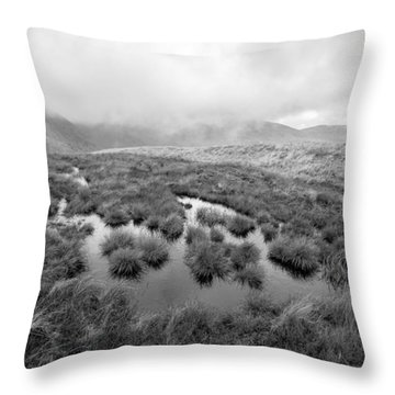 Throw Pillow featuring the digital art Helvellyn by Mike Taylor