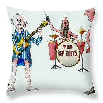 Sixties And Seventies Musicians Throw Pillow