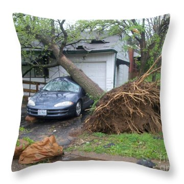 Throw Pillow featuring the photograph Her Fury by Kelly Awad