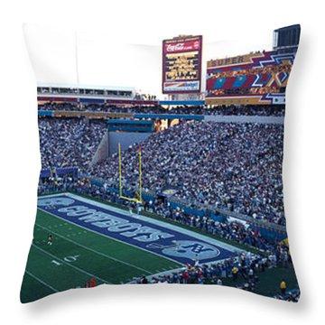 High Angle View Of A Football Stadium Throw Pillow