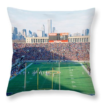 High Angle View Of Spectators Throw Pillow by Panoramic Images