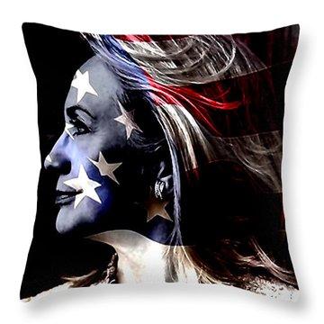 Hillary 2016 Throw Pillow by Marvin Blaine