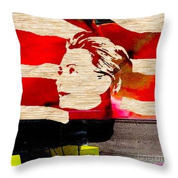 Hillary Clinton Throw Pillow by Marvin Blaine