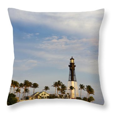 Hillsboro Inlet Lighthouse Throw Pillow