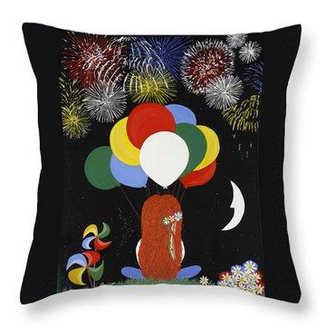 Holiday Magic Throw Pillow by Nathalie Sorensson