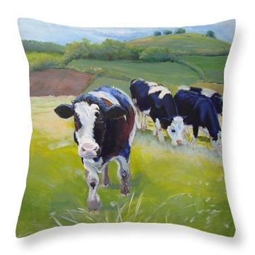 Holstein Friesian Cows Throw Pillow