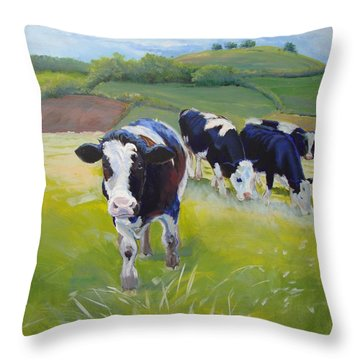 Holstein Friesian Cows Throw Pillow