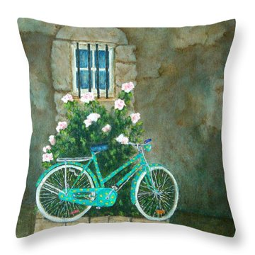 Home For Lunch In Rome Throw Pillow by Pamela Allegretto