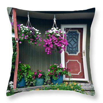 Home Sweet Home Throw Pillow by Frozen in Time Fine Art Photography
