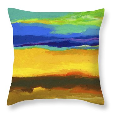 Horizons Throw Pillow by Stephen Anderson