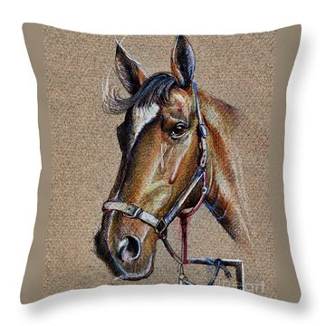 Horse Face - Drawing  Throw Pillow