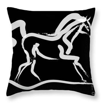 Horse-runner Throw Pillow