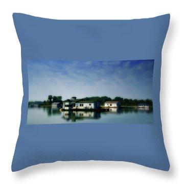 Horseshoe Pond Throw Pillow