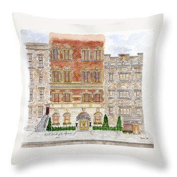 Hotel Washington Square Throw Pillow