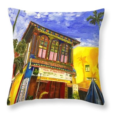 House Of The Rising Palms Throw Pillow