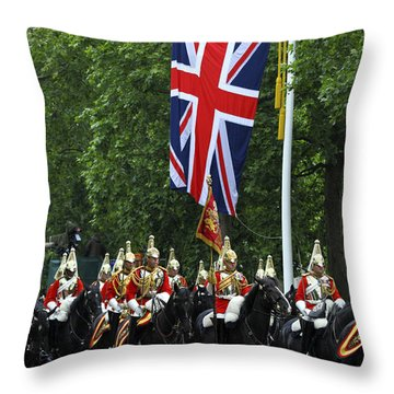 Household Cavalry Life Guards Throw Pillow