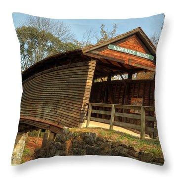 Humpback Covered Bridge Throw Pillow