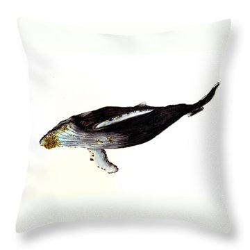 Humpback Whale Throw Pillow by Michael Vigliotti