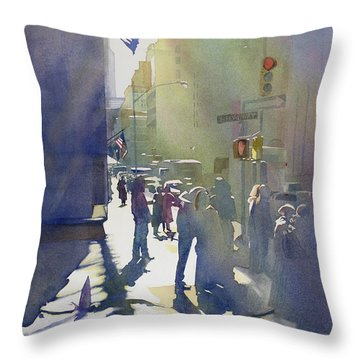 I Saw The Light At 44th And Broadway Throw Pillow by Kris Parins