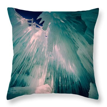 Ice Castle Throw Pillow