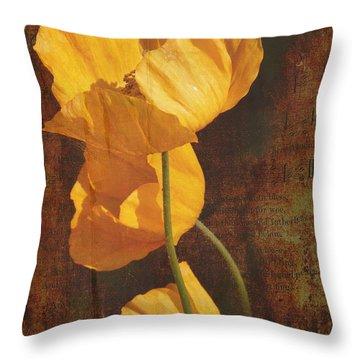 Icelandic Poppy Throw Pillow